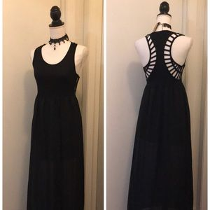 Sexy Black Long & Short Dress by LOVE FIRE size S